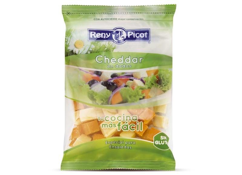 queso cheddar dados bolsa para ensaladas