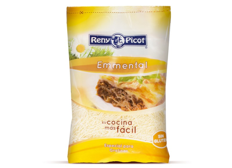 emmental rallado 60gr reny picot para pastas recetas faciles