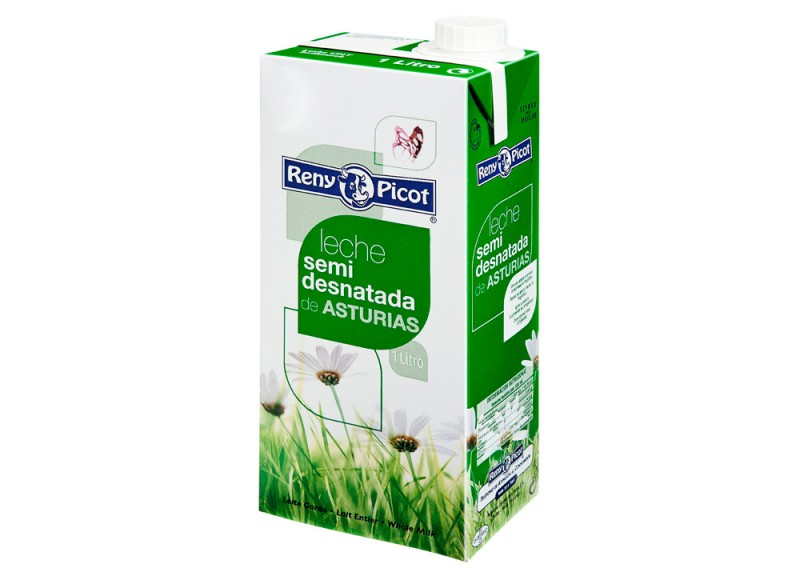 La leche semidesnatada Reny Picot - desayunos