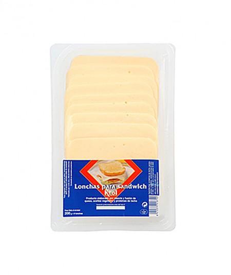 Fatias de queijo para sanduíche Krol 200g
