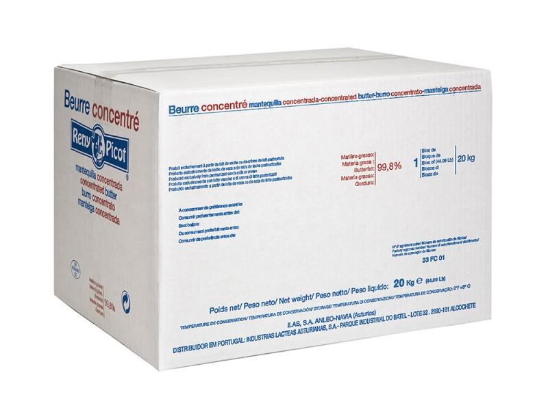 Mantequilla Texturada bloque 20kg para industria