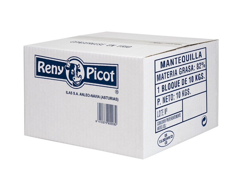 Mantequilla formato industrial bloque 10kg reny picot