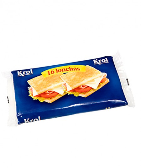 Pack 16 lonchas de queso Krol 300g queso para fundir