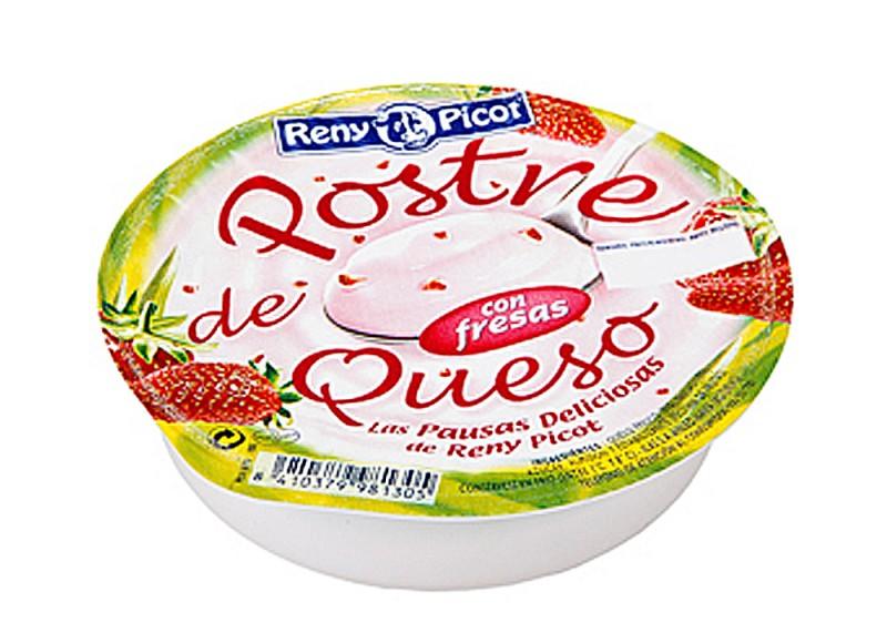 Postre de queso con fresas 100g - Postres con queso de untar ...