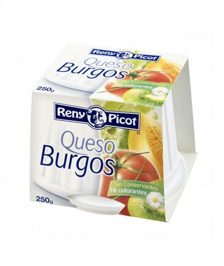 Queso Burgos 250gr Reny Picot. Queso fresco semigraso de vaca