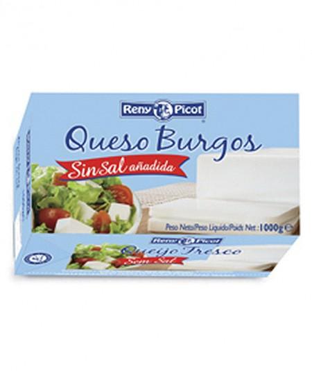 Queso Burgos sin sal Brick 1kg Queso fresco