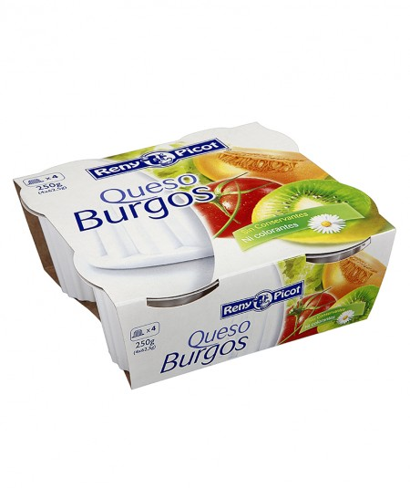 Queso Burgos Fresco - 4 tarrinas Reny Picot - recetas de queso fresco