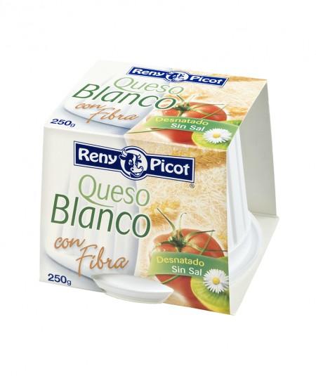 Queso Blanco con fibra 250g Desnatado Sin sal Reny Picot