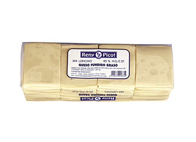 Queso Fundido pack 144 lonchas sandwich Reny Picot