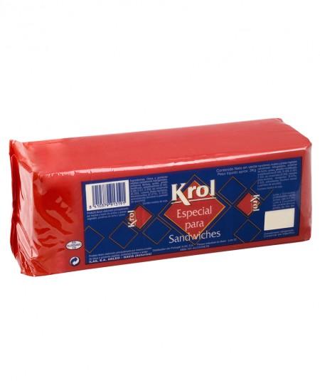 Barra de queso Krol 3kg para ssndwich