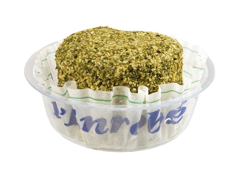 Queso de Cabra cubierto de pimienta verde lenrobe Reny Picot- aperitivos con queso de cabra