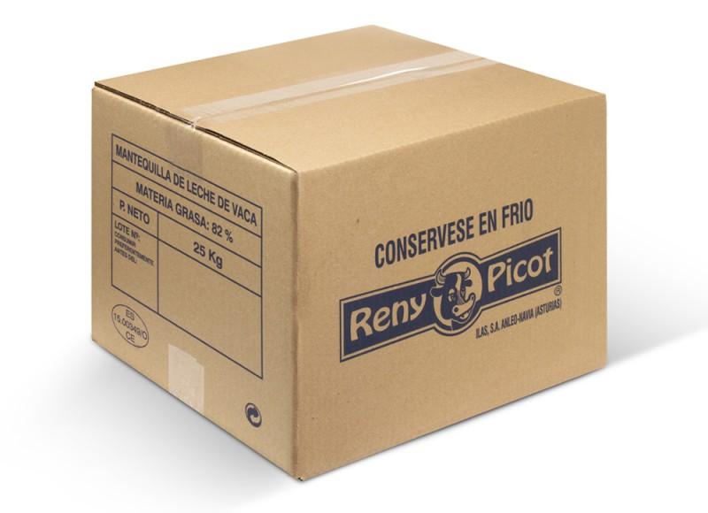 Mantequilla en bloque de 25kg formato industrial reny picot