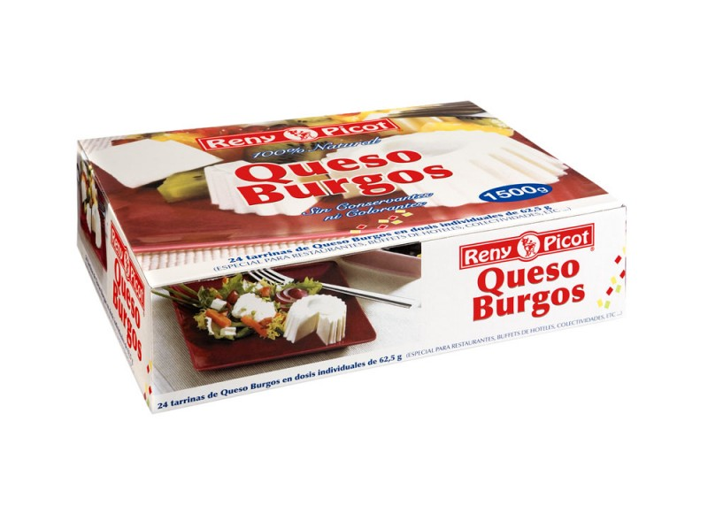 Queso Burgos 24 tarrinas individuales en caja Reny Picot