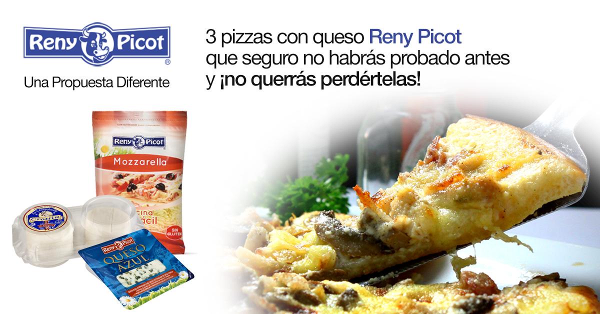 pizzas con queso Reny Picot