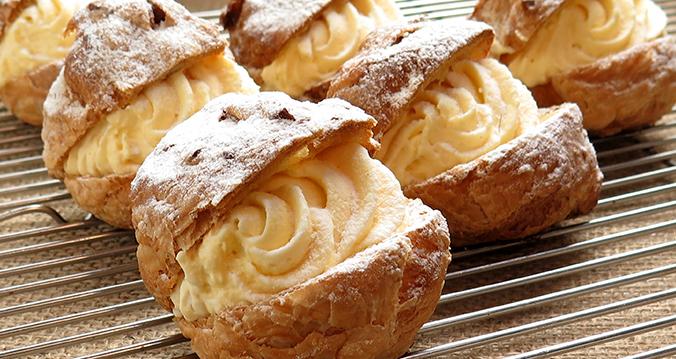 profiteroles con crema pastelera reny picot