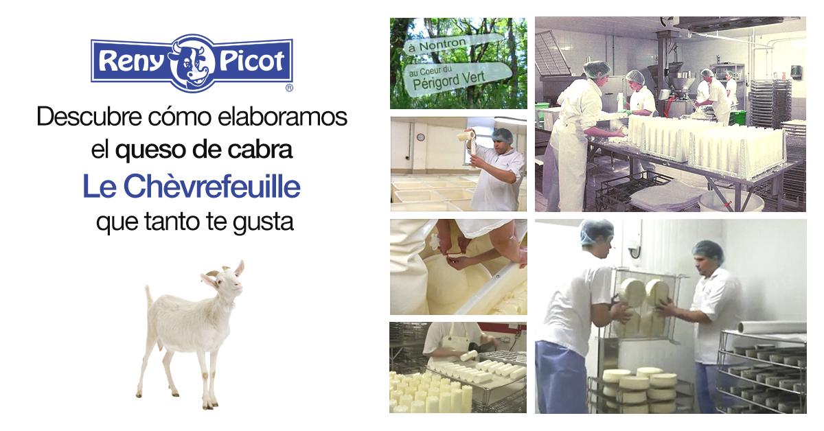Elaboración del queso cabra Le Chèvrefeuille en Reny Picot