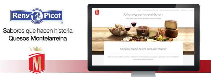 Nuevo espacio online de quesos Montelarreina Reny Picot