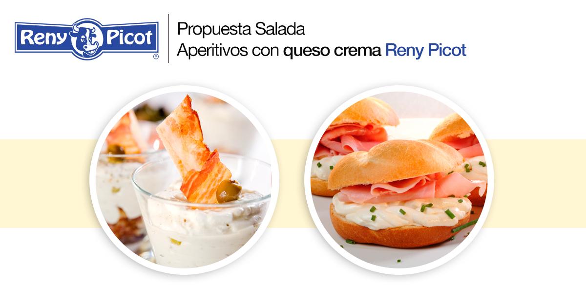 aperitivos con queso crema Reny Picot