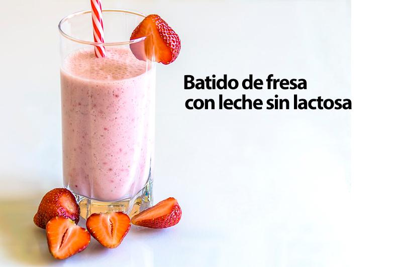 Batido de fresa con leche sin lactosa Reny Picot