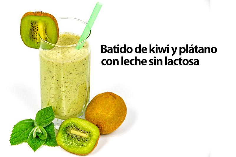 Batido de kiwi y plátano con leche sin lactosa Reny Picot