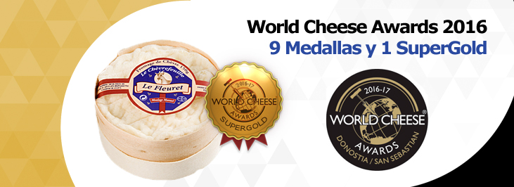 World cheese awards 2016. Premios para los quesos Reny Picot