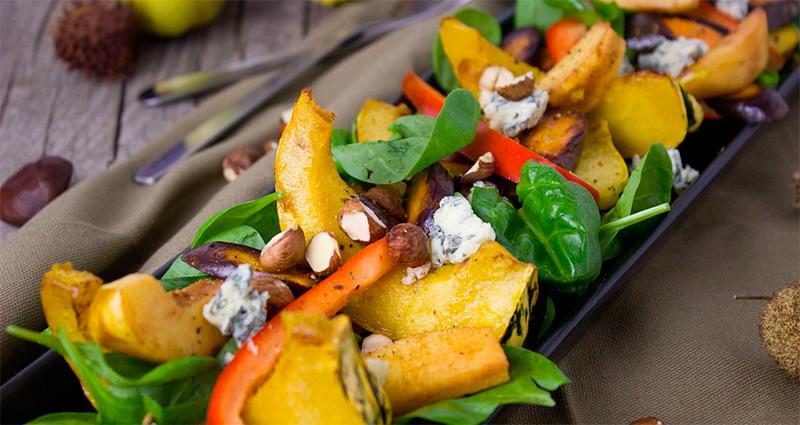 Recetas sanas y fáciles. Ensaladas saludables con queso