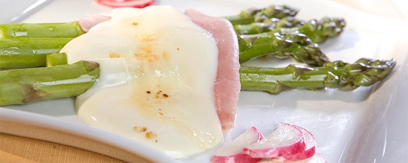 Recetas sanas y fáciles. Espárragos Trigueros con queso loncha Reny Picot