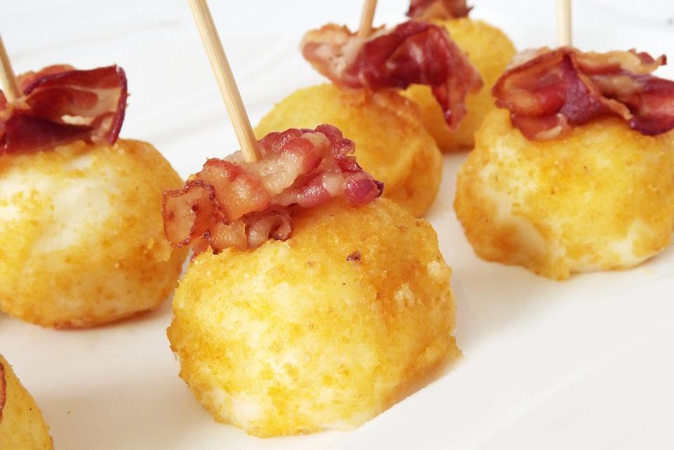 croquetas de queso de cabra Reny Picot Menú San Valentín