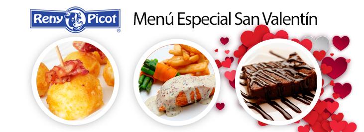 Menú para San Valentín Reny Picot