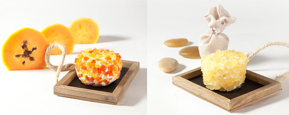 quesos de cabra les enrobes Reny Picot queso de cabra de Papaya mango piña