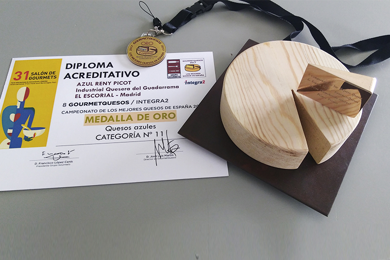 Queso Azul Reny Picot medalla de oro en el GourmetQuesos