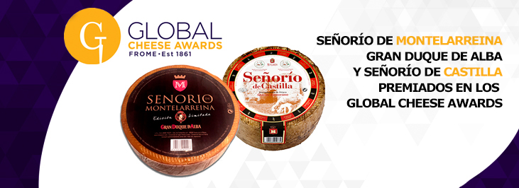 Quesos de oveja premiados en el Global Cheese Awards 2017 senorio de montelarreina gran duque de alba y senorio de castilla reny picot