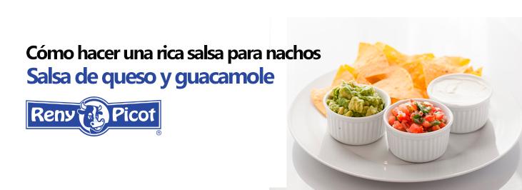 receta de salsa de queso para nachos cheddar guacamole recetas faciles