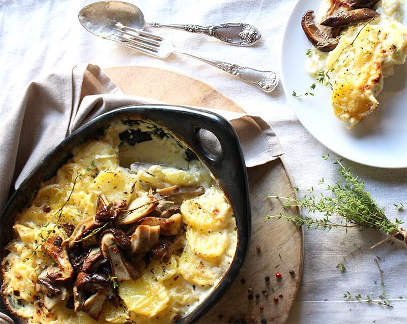 Pastel de patatas y boletus recetas gourmet reny picot recetas faciles con nata al horno