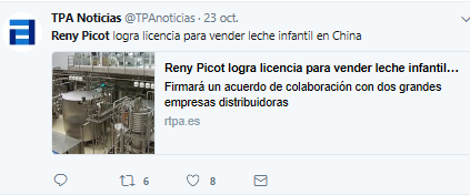Acuerdo Reny Picot con gobierno chino
