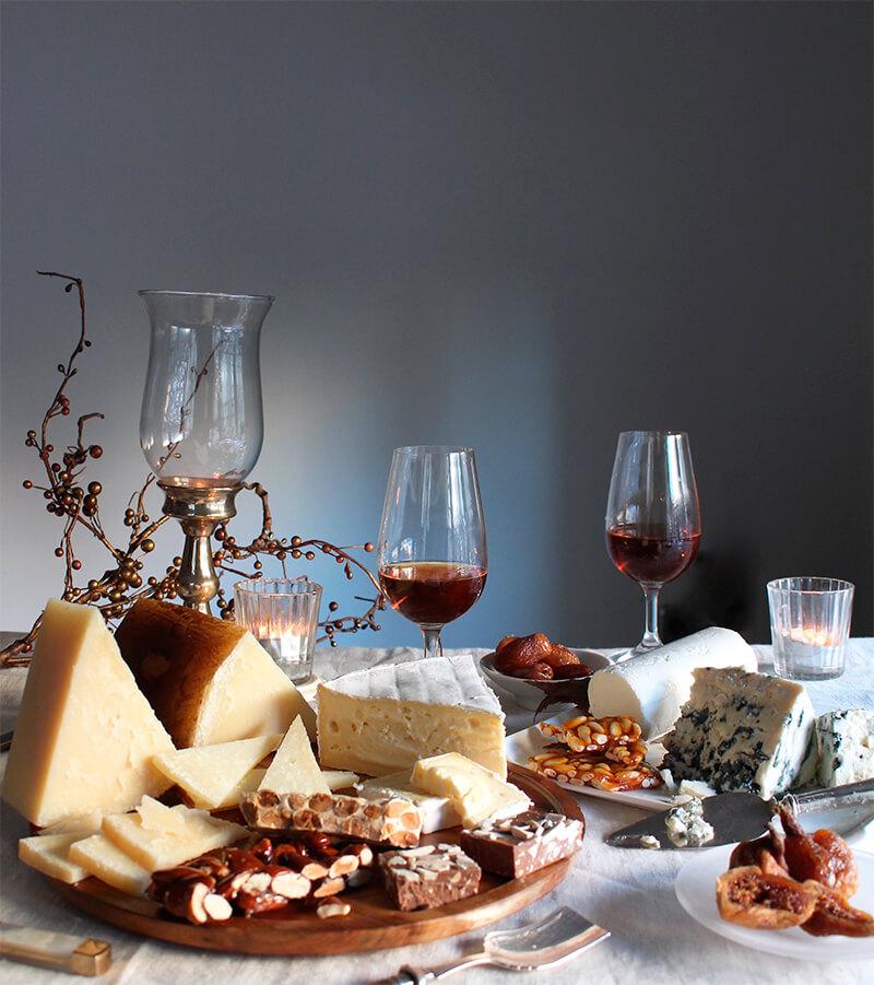 Tabla de quesos Reny Picot menu de navidad maridaje queso y turron