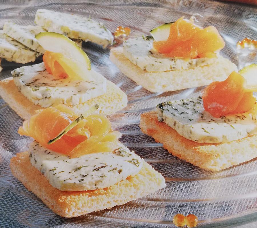 Recetas con mantequilla - Tostas de Eneldo