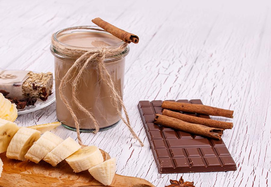 batidos energéticos - plátano cacao