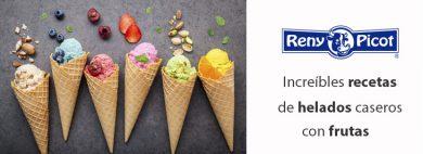 helados caseros con frutas y lácteos