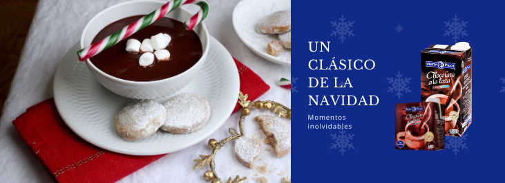 chocolate a la taza en Navidad